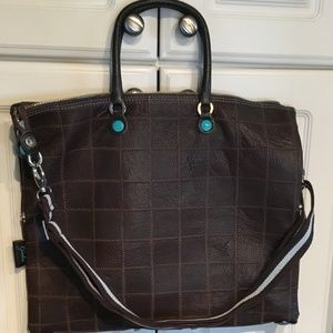 Gabs Italy Patchwork Leather Convertible Handbag for sale